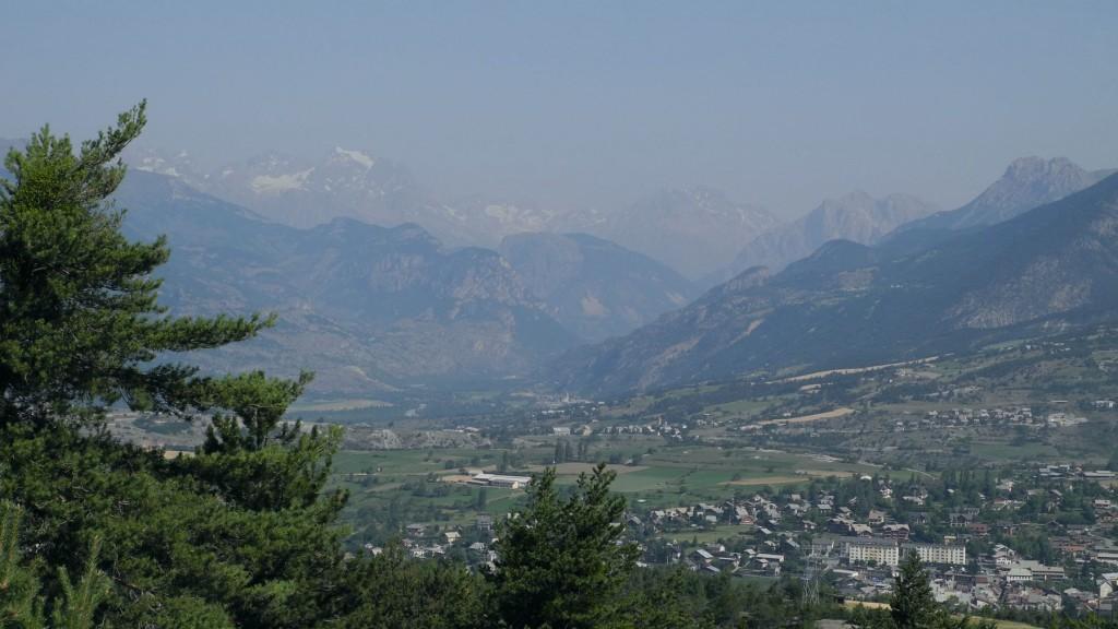 Blick zurück ins Tal der Durance in Richtung Col du Galibier