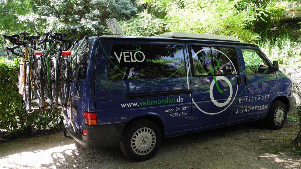 Velomondialbus für die Heimreise aus Nizza