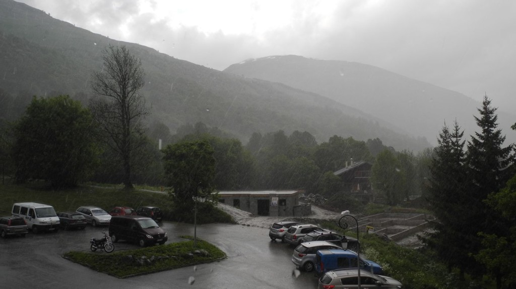 Regenguß in Valloire (franz. Alpen)