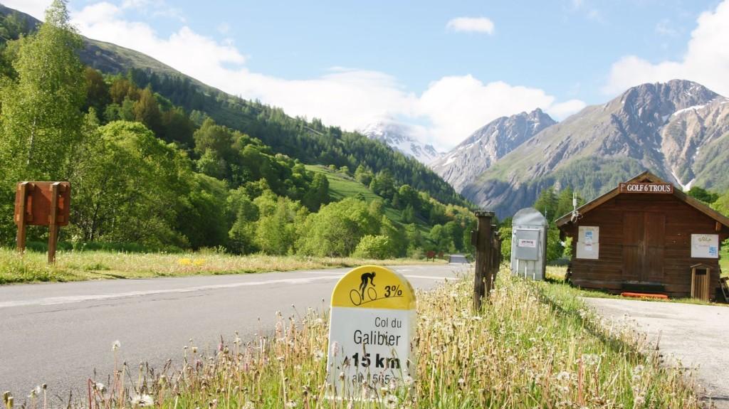Auffahrt zum Galibier bei Valloire