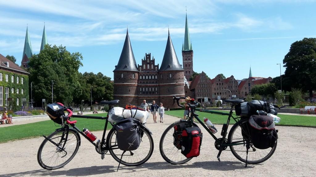 Zwischenstopp auf der Radreise in Lübeck - unverkennbar!