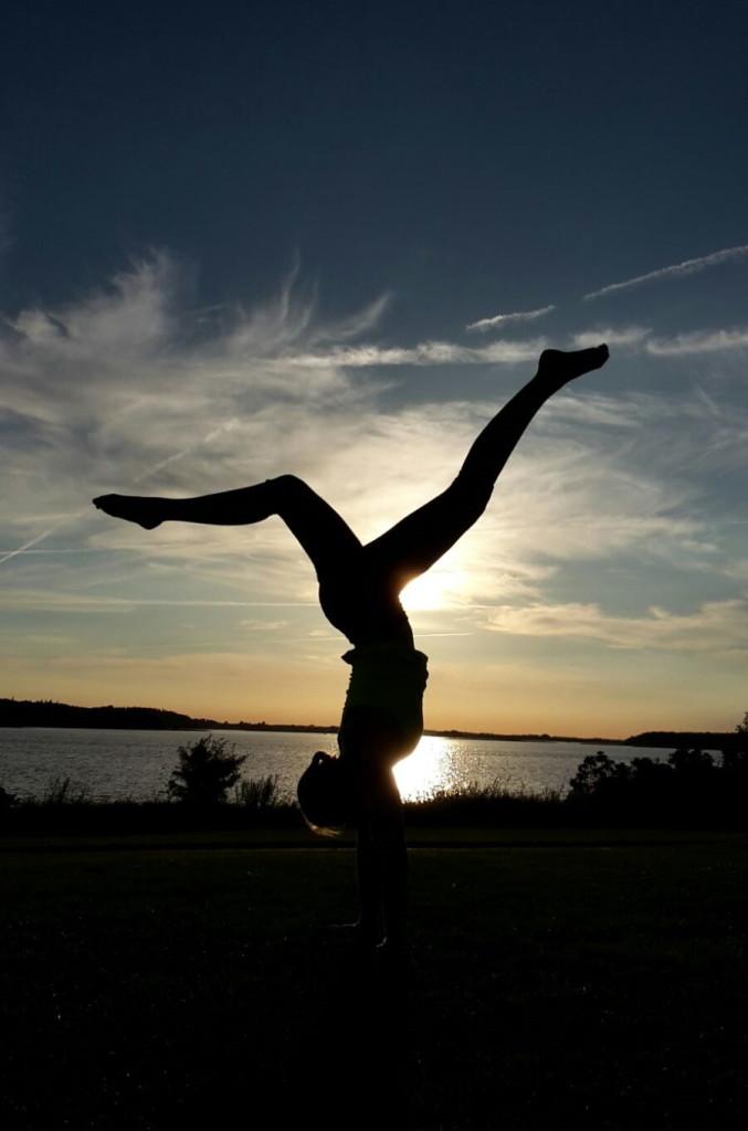 ... für ein bisschen Akrobatk am Abend war dann noch Kraft übrig ...