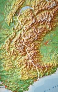 Streckenkarte Genf - Nizza