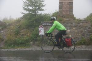 Col de Vars im Regen und Nebel
