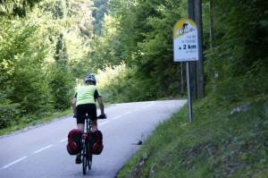 Kurz vor der Paßhöhe des Col de la Forclaz