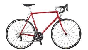 Klassisches Rennrad mit gemufftem Stahlrahmen